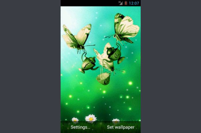 Spring cafea live Wallpaper