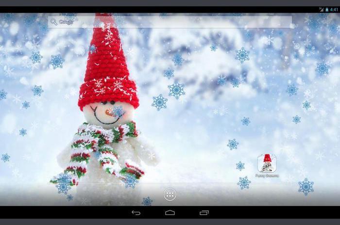 Amuzant Snowman Live Wallpaper
