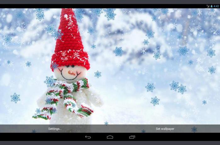 Drôle de bonhomme de neige Live Wallpaper