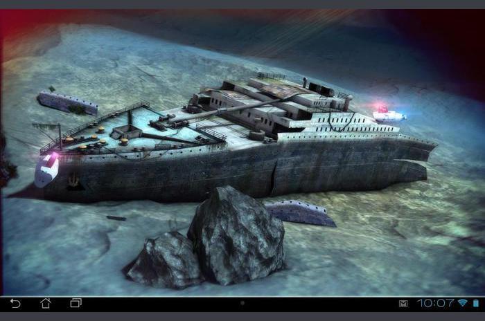Titanic 3D Free élő háttérkép
