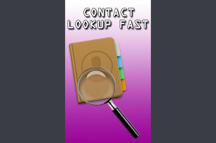 Contactez recherche rapide