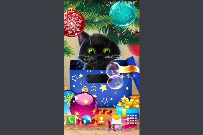 Christmas Cat Live Wallpaper