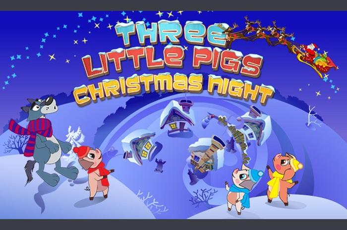 Trois petits cochons de Noël