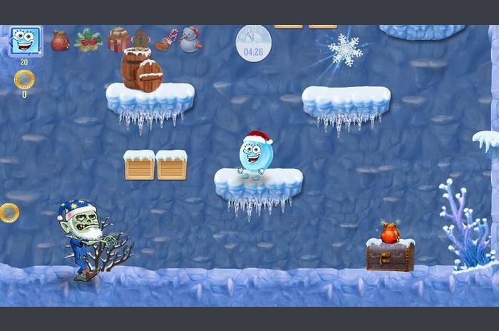 Pom de Crăciun, zăpadă