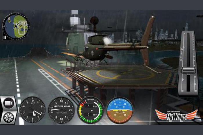 Simulateur d'hélicoptère 2016. Flight Simulator en ligne: ailes Fly