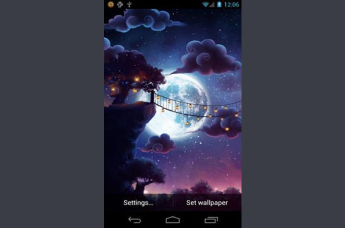 Starry Night Passage Wallpaper