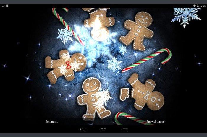 Božić uživo Wallpaper snijega Stars