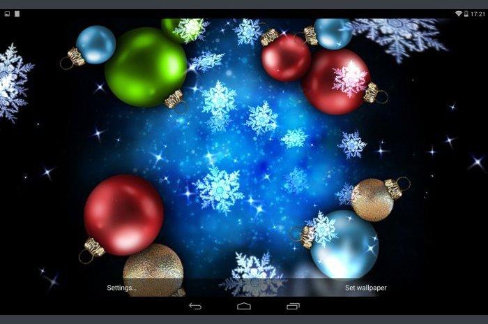 Noel Live Wallpaper Kar Yıldız