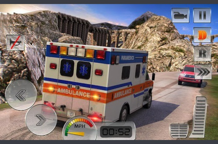 รถพยาบาลกู้ภัยขับรถ 2016