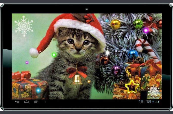 Nyår kitty live wallpaper - Nytt år kitty livewallpaper