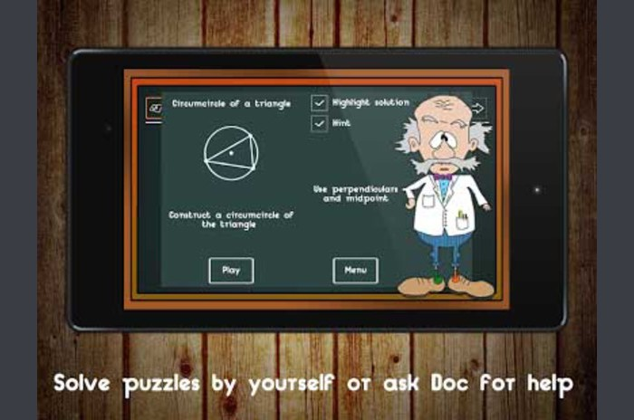 Geometric Puzzle.  Mad Doc - Logic Puzzle