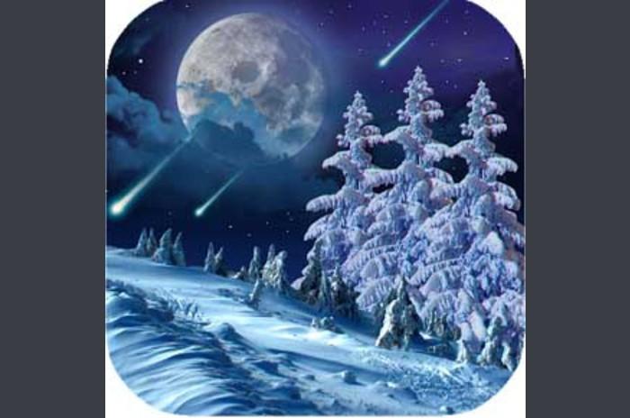 Kış gece Wallpaper - Kış Gecesi Canlı Duvar Kağıdı