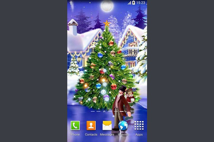 Patinoire de Noël live wallpaper