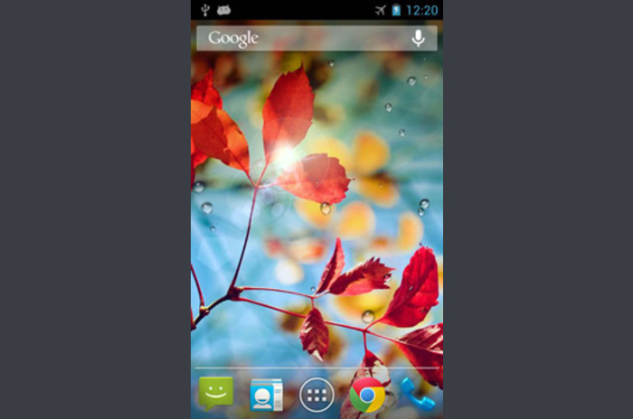 Galaxy S4 Rain Live Wallpaper