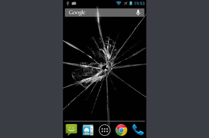Shake!  LWP Cracked Screen
