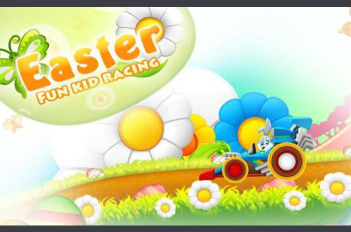 Conejo de Pascua: las carreras de la diversión del niño