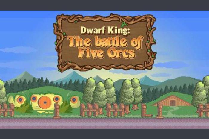 Dwarf King - Vijf Orcs Battle