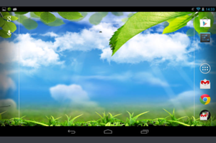 Galaxy S4 Green Leaf Wallpaper