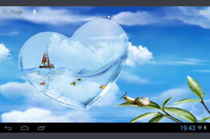 حوض السمك القلب
