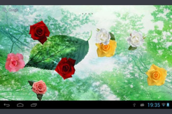 Rosas flotantes