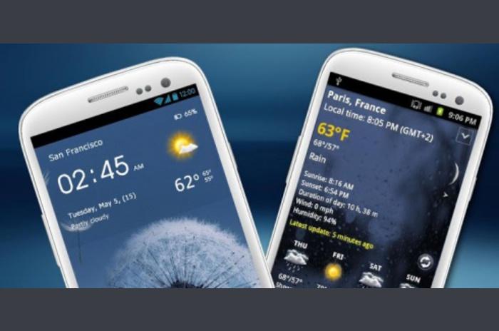 Reloj Transparente y meteorología