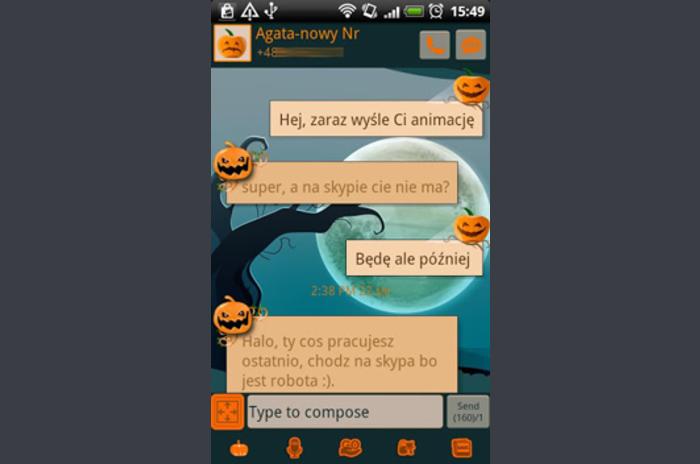 GO SMS Halloween fericit Tema
