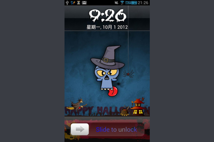 Iphone screen locker Halloween