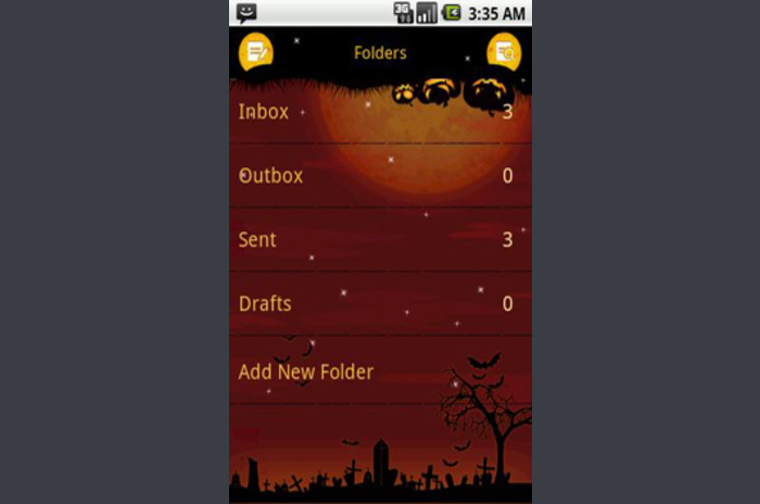 Pansi SMS Halloween theme