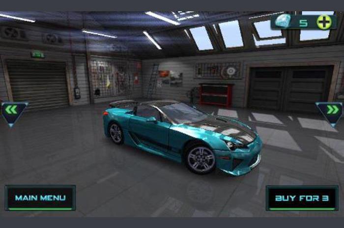 Haute vitesse de course en 3D