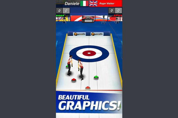 Curling 3D en jeux girafe limitée
