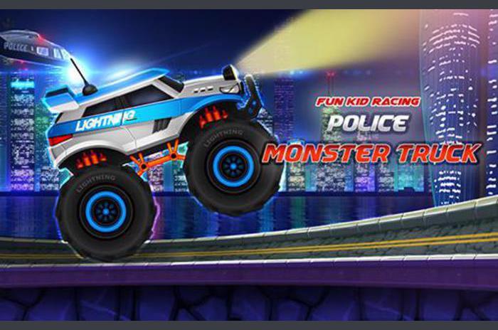 Fun kid racing: Politie monster truck