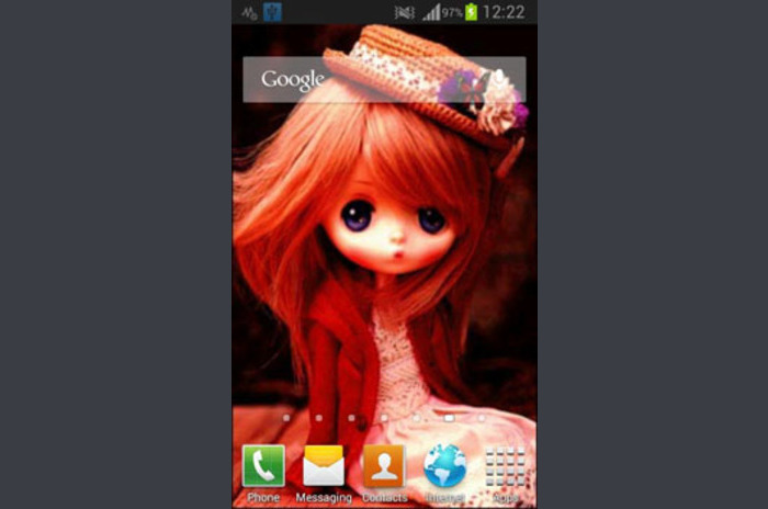 Sweet Doll Live Wallpaper