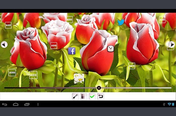 Live papel tapiz flor Mi 3D