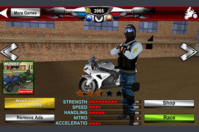 Polis motosiklet suç sim