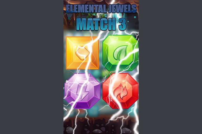 Elemental jewels: Match 3