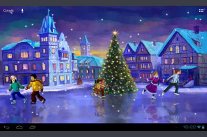 Boże Narodzenie na żywo Tapety na rolkach