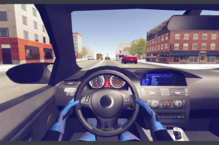 Policija automobilist 3D