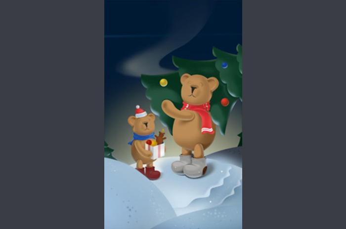 Ours de Noël LWP gratuit