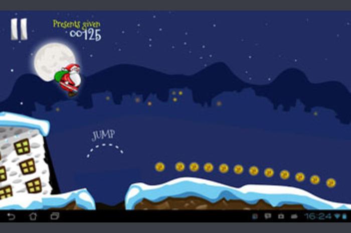 Boże Narodzenie gry Run!  Santa Run!