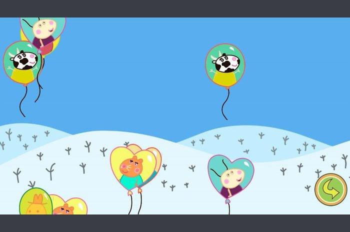 Léggömbök pop Peppa Kids Games