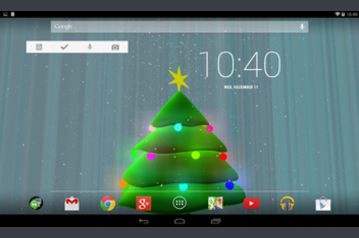 3D Xmas Tree Live Wallpaper