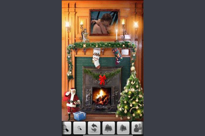 EverGreets: คริสต์มาสเตาผิง