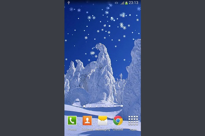 Anul Nou de zăpadă LWP