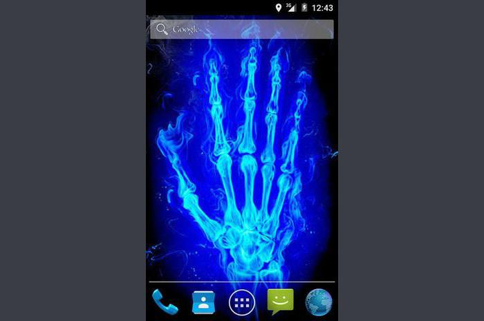 Xray Hand Live Wallpaper