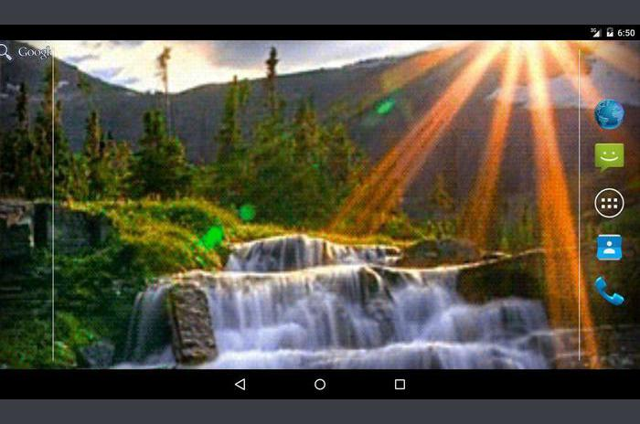 Waterfall Rays Live Wallpaper