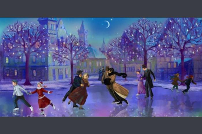 عيد الحب تزلج خلفية لايف