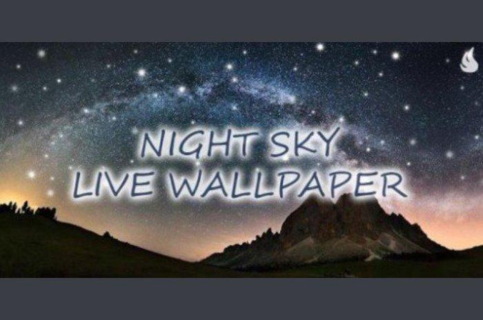 Noćno nebo uživo Wallpaper