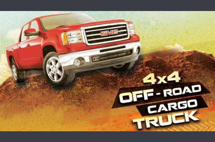 4x4 off-road cargo truck
