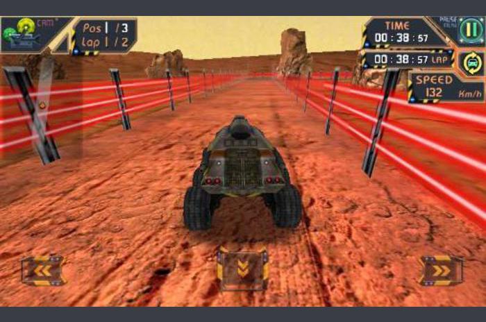 Alien auto's: 3D toekomst race