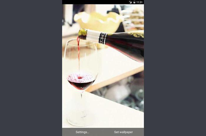 ขวดไวน์สดวอลล์เปเปอร์